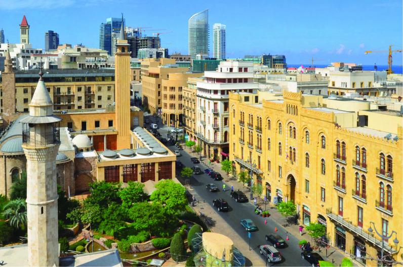 Vue d'une rue du centre-ville de Beyrouth