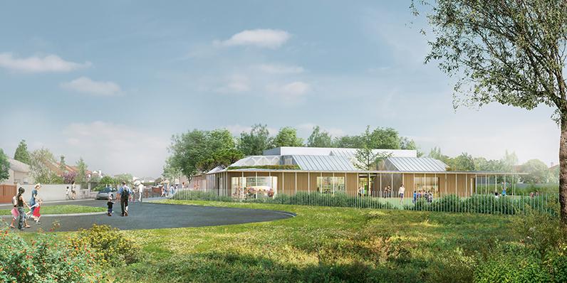 Rénovation de l'école maternelle Jacques Gilbert Collet à Chevilly-Larue