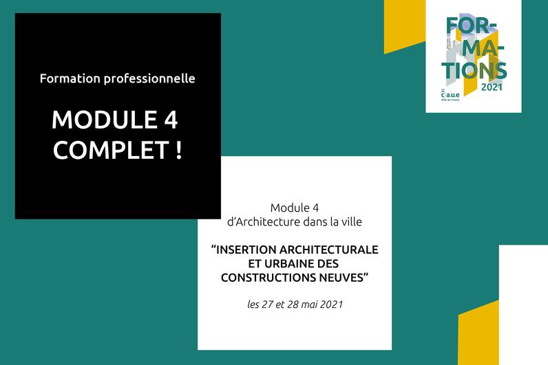"""Professionnels, le module 4 de la formation """"Architecture dans la ville"""" est désormais complet. Découvrez le module 5 !"""