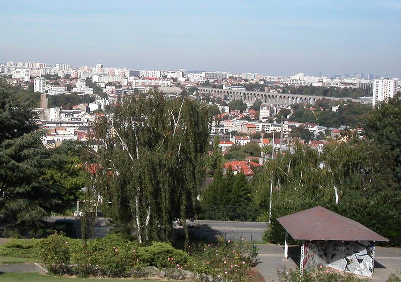 Vue depuis le jardin panoramique de Cachan