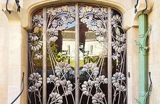 Villa Majorelle, Nancy - Détail de la porte d'entrée - Architecte Henri Sauvage