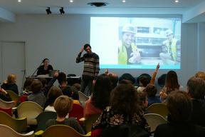 Intervention de WIND my ROOF, solution d'éoliennes urbaines, à la Petite Leçon de Ville en Famille sur les énergies renouvelables.